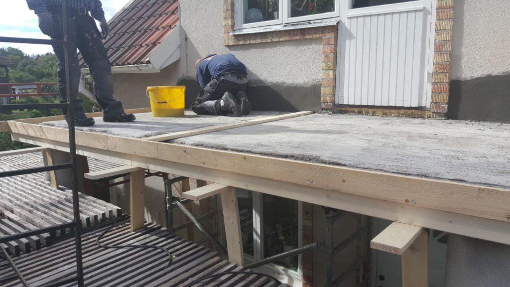 Renovering av balkong i Örebro